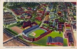 ESTADOS UNIDOS , TARJETA POSTAL SIN CIRCULAR, AERIAL VIEW OF UNIVERSITY OF PENNSYLVANIA SHOWING STADIUM - Estadios
