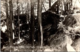 New York Olean Rock City Park Rocky Knook Real Photo - Other