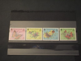 CAYMAN - 1990 FARFALLE/FIORI 4 VALORI - NUOVI(++) - Cayman (Isole)