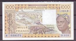 Benin AOF  1000 Fr 1988 D  UNC - Bénin