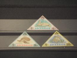 ASCENSION - 1973 TARTARUGHE 3 VALORI - NUOVI(++) - Ascensione