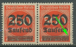 Deutsches Reich 1923 Freimarke Mit Aufdruck Setzfehler 296 II Postfrisch - Engraving Errors