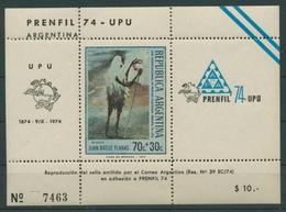 Argentinien 1974 Fachzeitschriften-Ausst. 1173 Gedenkblock Postfrisch (C22916) - Argentinien