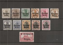 Belgique - Occupation 14/18- Gouvernement Général ( Lot De Timbres Divers Différents Oblitérés) - Weltkrieg 1914-18