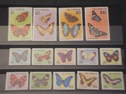 GUYANA - 1978/80 FARFALLE 11 + 3 VALORI - NUOVI(++) - Guiana (1966-...)