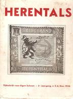 Boekje Herentals Tijdschrift Voor Eigen Schoon 2de Jaargang N°5-6 Dec 1936 - Herentals