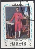 "635 Ajman 1970 ""...Napoleone Bonaparte..."" Quadro Dipinto Da J.A.D. Ingres Preoblit. Neoclassicismo Painting Imperf. - Rivoluzione Francese"