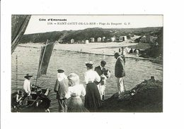 Cpa SAINT JACUT DE LA MER Plage Du Rougeret Rougeray GF 4558 Collec Germain - Saint-Jacut-de-la-Mer