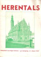 Boekje Herentals Tijdschrift Voor Eigen Schoon 3de Jaargang N°1 Maart 1937 + Plan - Herentals