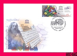 MOLDOVA 2019 UNESCO International Year Of Periodic Table Of Chemical Elements By Mendeleyev Sc1037 Mi1102 FDC - Química