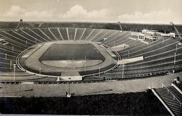 1956 ALEMANIA , TARJETA POSTAL NO CIRCULADA, LEIPZIG - STADION DER 100.000 , BLICK VOM GLOCKENTURM - Estadios