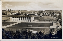 1935 ALEMANIA , TARJETA POSTAL NO CIRCULADA, MÜNICH - MEMMINGEN , ESTADIO , STADION , STADIUM - Estadios