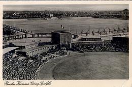 1938 ALEMANIA , TARJETA POSTAL CIRCULADA, BRESLAU - HERMANN GÖRING SPORTFELD , ESTADIO , STADION , STADIUM - Estadios