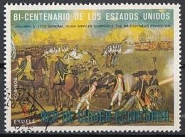 "Guinea Equatoriale 1976 Sc. 7565 ""The Battle Of Princeton"" Quadro Dipinto J. Peale - CTO Equatorial - Indipendenza Stati Uniti"