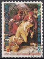 """Guinea Equatoriale 1976 Sc. 7566 """"Death General Montgomery Quebec"""" Quadro Dipinto Trumbull - CTO Equatorial - Indipendenza Stati Uniti"""