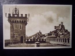 San Marino: La Terrazza Del Palazzo Governativo. Cartolina Fp Anni '20-'30 - San Marino