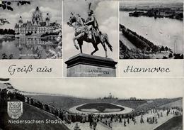 1964 ALEMANIA , TARJETA POSTAL CIRCULADA, HANNOVER - NIEDERSACHSEN STADION , ESTADIO , STADIUM - Estadios