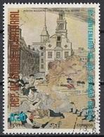 """Guinea Equatoriale 1976 Sc. 7563 """"The Boston Massacre"""" Quadro Dipinto P. Revere - CTO Equatorial - Indipendenza Stati Uniti"""