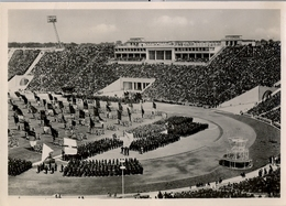 1956 ALEMANIA , TARJETA POSTAL CIRCULADA, MESSESTADT LEIPZIG,  STADION , ESTADIO , STADIUM - Estadios