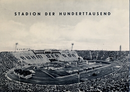 1957 ALEMANIA , TARJETA POSTAL CIRCULADA, MESSESTADT LEIPZIG,  STADION , ESTADIO , STADIUM - Estadios