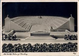 1938 ALEMANIA , TARJETA POSTAL CIRCULADA, NÜRNBERG - STADT DER REICHSPARTEITAGE,   STADION , ESTADIO , STADIUM - Estadios