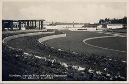 1930 ALEMANIA , TARJETA POSTAL CIRCULADA, NÜRNBERG  STADION , ESTADIO , STADIUM - Estadios
