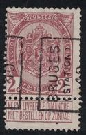 2c Preo 1518A Bruges (Station) 10 (1910) - Vorfrankiert