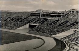 1956 ALEMANIA , TARJETA POSTAL CIRCULADA, MESSESTADT LEIPZIG STADION , ESTADIO , STADIUM - Estadios