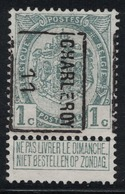 1c Preo 1607B Charleroy 11 (1911) - Vorfrankiert