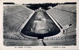 1954 GRECIA , TARJETA POSTAL CIRCULADA, ATENAS , STADION , ESTADIO , STADIUM - Estadios