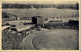 1937 ALEMANIA , TARJETA POSTAL CIRCULADA, BRESLAU STADION , ESTADIO , STADIUM - Estadios