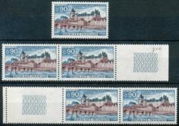 [601195]SUP//**/Mnh-c:3e-France 1973, Château De Gien, 5 Exemplaires En Diverses Composition - Vacanze & Turismo