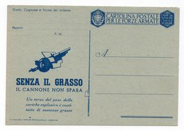WWII ITALY, MILITARY CARD, POSTAL STATIONEY - 9. WW II Occupation (Italian)