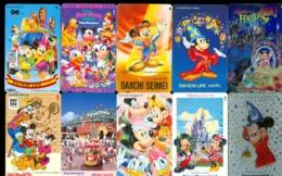 10 Télécartes Différentes DISNEY JAPAN (LOT 13)  10 DIFFERENT PHONECARDS DISNEY  * 10 VERSCHIEDENE TELEFONKARTEN DISNEY - Disney
