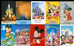 10 Télécartes Différentes DISNEY JAPAN (LOT 17)  10 DIFFERENT PHONECARDS DISNEY  * 10 VERSCHIEDENE TELEFONKARTEN DISNEY - Disney