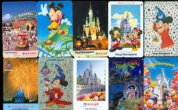10 Télécartes Différentes DISNEY JAPAN (LOT 18)  10 DIFFERENT PHONECARDS DISNEY  * 10 VERSCHIEDENE TELEFONKARTEN DISNEY - Disney