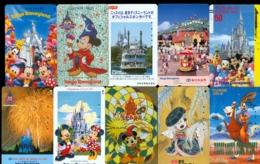 10 Télécartes Différentes DISNEY JAPAN (LOT 20)  10 DIFFERENT PHONECARDS DISNEY  * 10 VERSCHIEDENE TELEFONKARTEN DISNEY - Disney