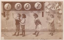 CHILDREN CELEBRATING NEW YEAR 1907, CIRCULEE BUENOS AIRES  - BLEUP - New Year