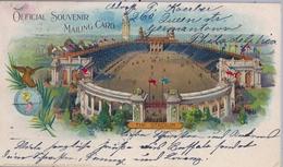 "1901 ESTADOS UNIDOS , PRIVATE MAILING CARD , BUFFALO - WUERZBURG, "" THE STADIUM "" - Estadios"