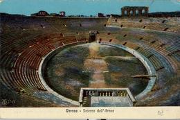 ITALIA , TARJETA POSTAL SIN CIRCULAR , VERONA - INTERNO DELL' ARENA - Estadios