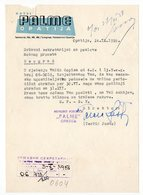 1958 YUGOSLAVIA, CROATIA, OPATIJA, HOTEL PALME, LETTERHEAD - Unclassified