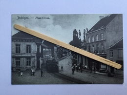 JODOIGNE»PLACE URBAN»Panorama,animée ,TRAM(Réédition  Du Syndicat D'Initiative De Jodoigne - Jodoigne