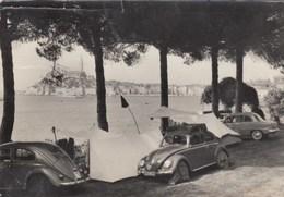 ROVINI-ROVIGNO-VOLKSWAGEN MAGGIOLINO-AUTO-CAR-VOITURES-COCHE-CARTOLINA VERA FOTOGRAFIA-VIAGGIATA IL 16-8-1963 - Croazia