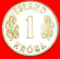 + GREAT BRITAIN 4 SPIRITS (1957-1975): ICELAND ★ 1 CROWN 1974 MINT LUSTER! LOW START ★ NO RESERVE! - Islandia
