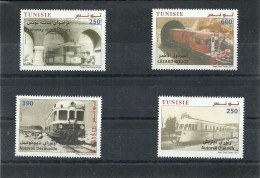 2015 - Tunisia - Treni In Tunisia- Set Completo 4V  MNH ** - Tunisia (1956-...)