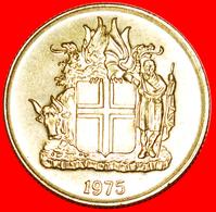 + GREAT BRITAIN 4 SPIRITS (1957-1975): ICELAND ★ 1 CROWN 1975 MINT LUSTER! LOW START ★ NO RESERVE! - Islandia
