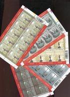 Belgie 2003 Nr 3194/98 Tourism Rillaar Treignes Hamont Wavre Sculptures Volledig Vel Plaatnummer 11211 - Panes