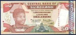 SWAZILAND 50 EMALANGENI P-31 PARLIAMENT CENTRAL BANK 2001 UNC - Swaziland