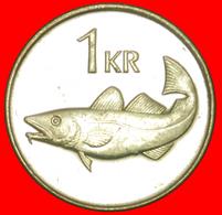 + GREAT BRITAIN FISH (1989-2011): ICELAND ★1 KRONE 2005 MINT LUSTER! LOW START ★ NO RESERVE! - Islandia