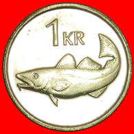 + GREAT BRITAIN FISH (1989-2011): ICELAND ★1 KRONE 2011 MINT LUSTER! LOW START ★ NO RESERVE! - Islandia